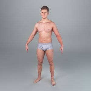 3d human rigging ready