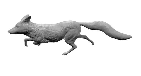 maya red fox running