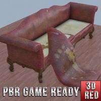 vintage sofa game ready