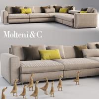 molteni c sofa 3d model