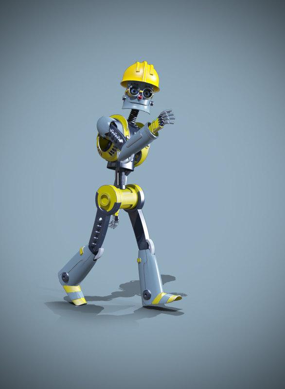 obj robot buildings