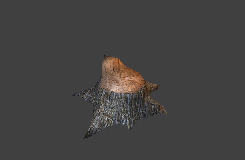 tree stump 2 3d 3ds