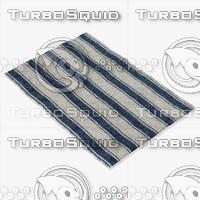 blue rug 3d fbx