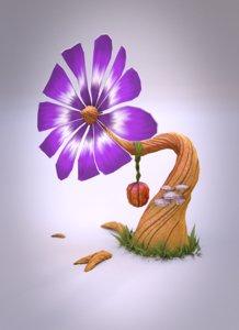 maya fantasy flower