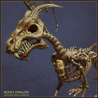 Bones Dragon Animated Character