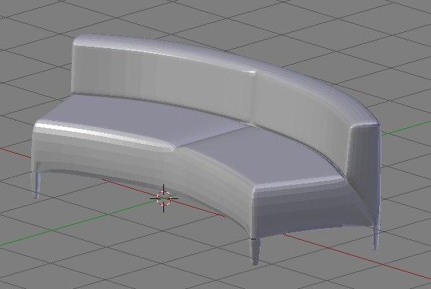 free obj model sofa