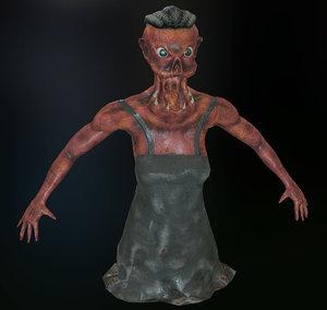 3d model of monster