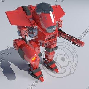 robot blender cycles 3d blend
