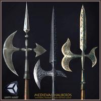 3 medieval halberds max free