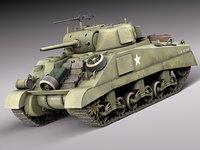 3d model tank equipment m4