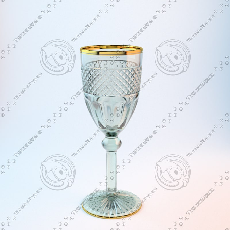 3d cantate crystal wine glass