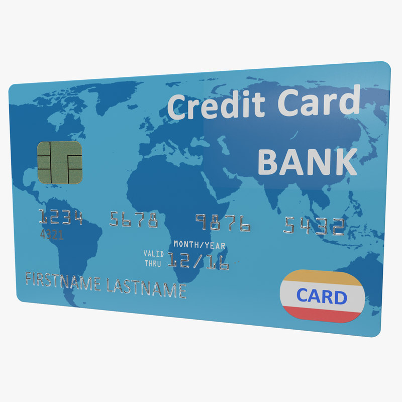 3ds max credit card blue