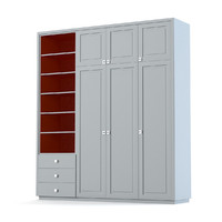 creative woodwork cabinet 3d model