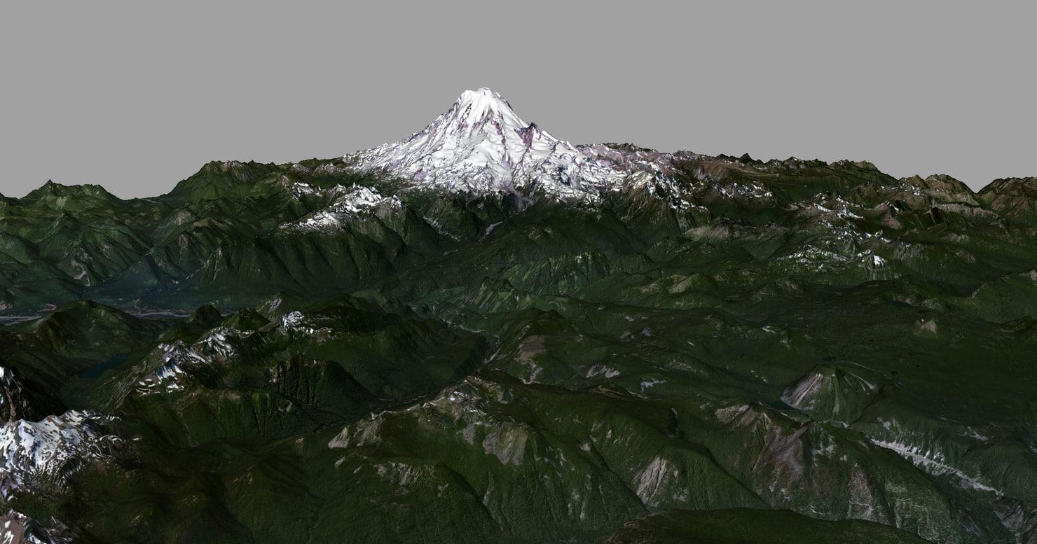 mesh mount rainier 3d x