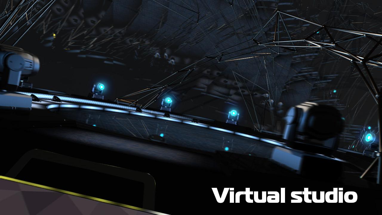 3d model studio tv virtual