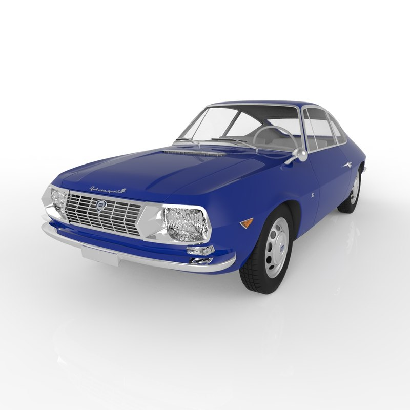 lancia fulvia zagato 1965 3ds