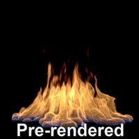 large flame pre-rendered