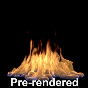 3d model of animation sequence render flame