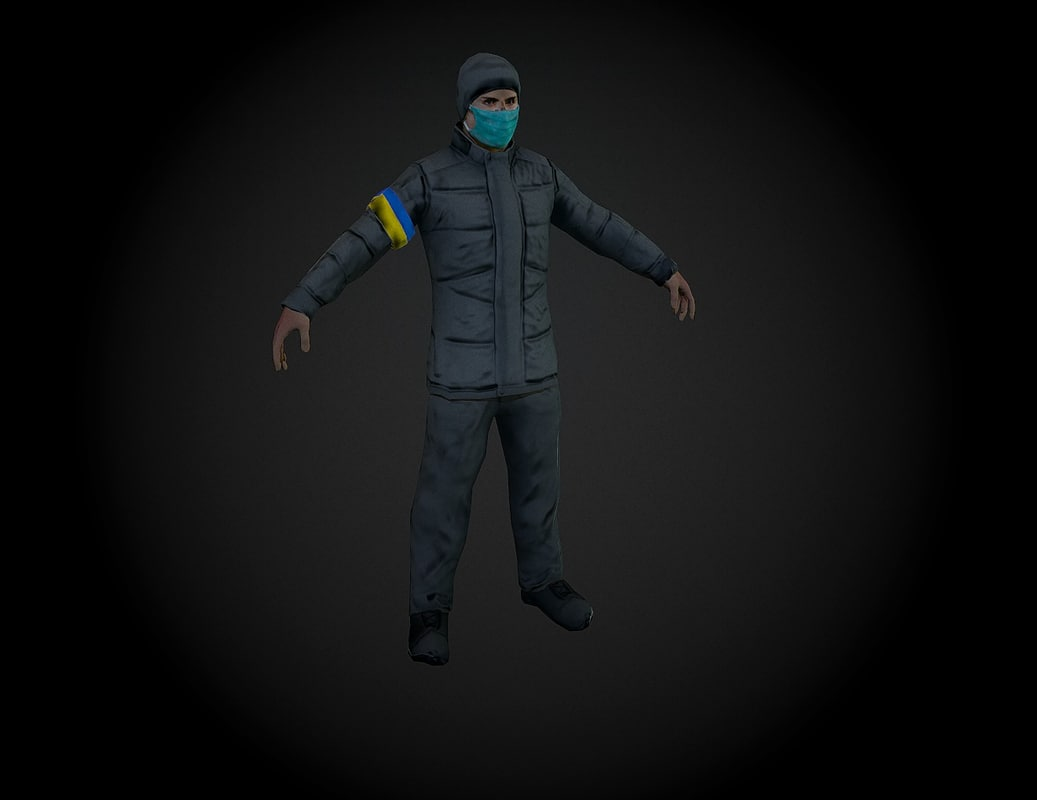 ukrainian revolutionary 3d model