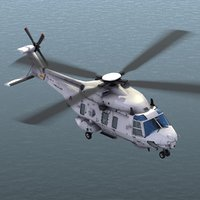 3d nfh nh90 helicopter dutch model