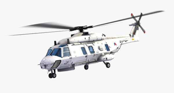 nh90 military helicopter royal 3d model