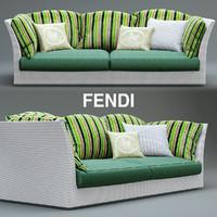 3d sofa fendi outdoor