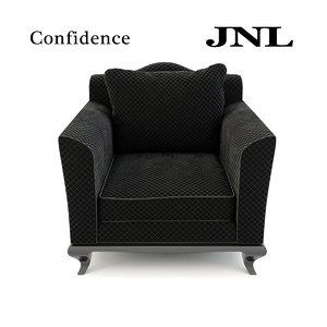 3d jnl confidence armchair model