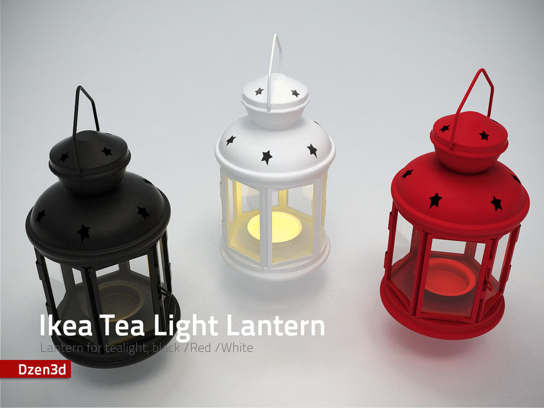 ikea tea light lantern 3d model