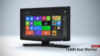 acer t230h monitor 3d model