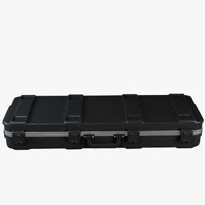 guitar hardshell case 3d model