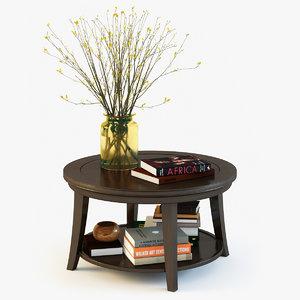 metropolitan coffee table pottery barn 3d max
