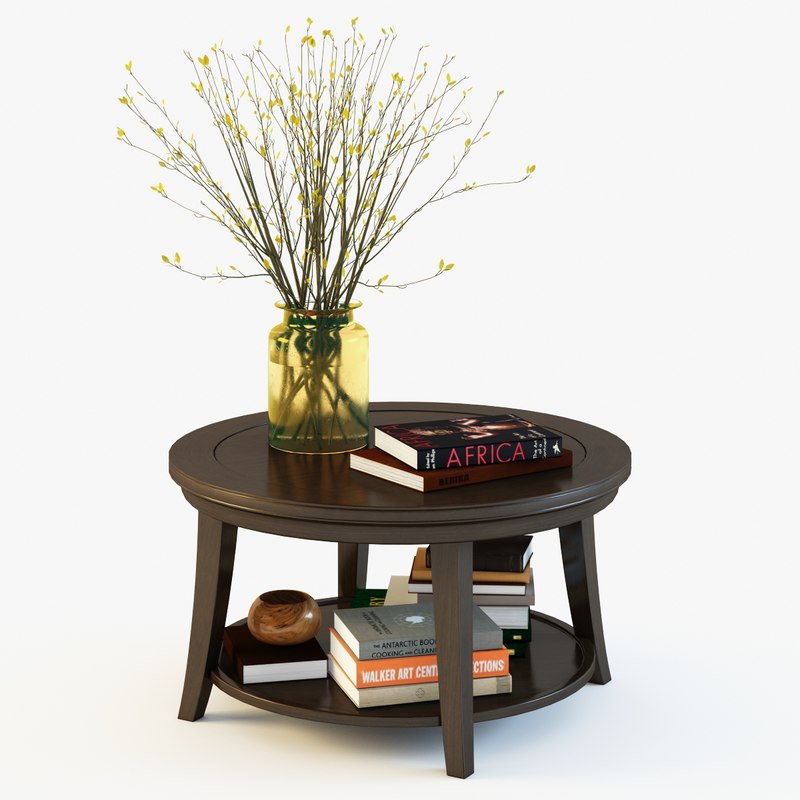 Metropolitan Coffee Table Pottery Barn 3d Max