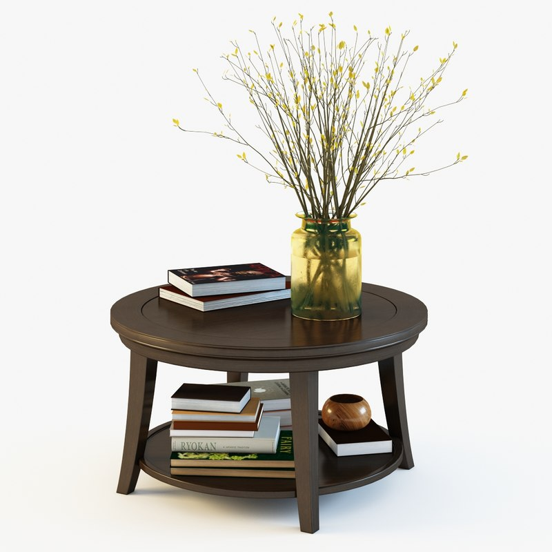 Pottery Barn Metropolitan Round Coffee Table