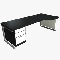 3d office workstation desk model