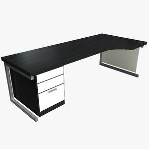 3d office workstation desk model