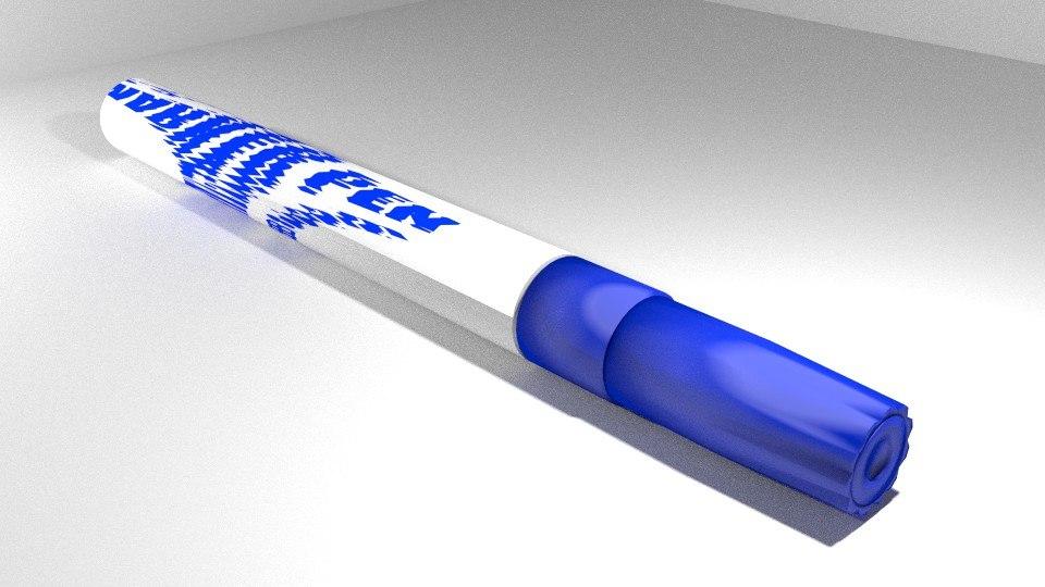 3d marker pen model