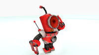 robot animations 3d model