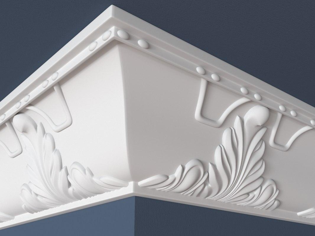 3d model of decorative molding
