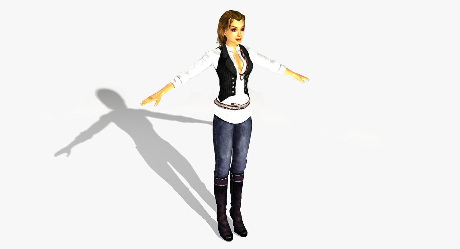 female character 3d ma