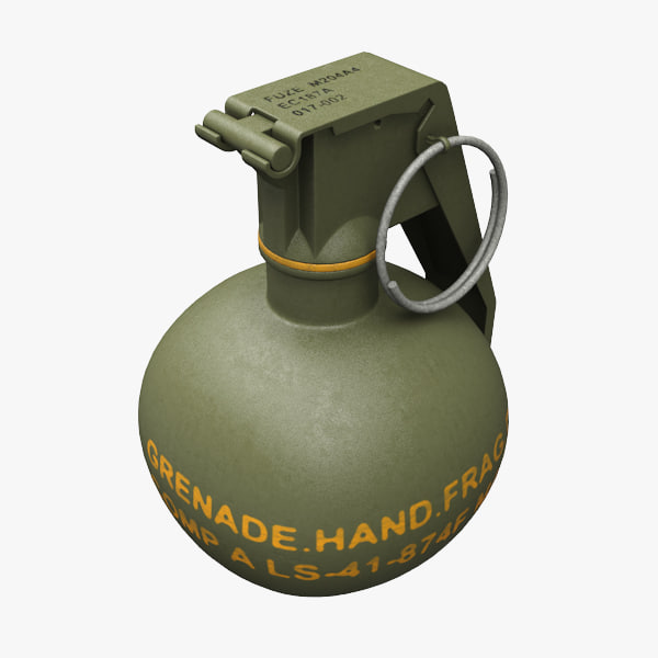 hand grenade m67 3d obj