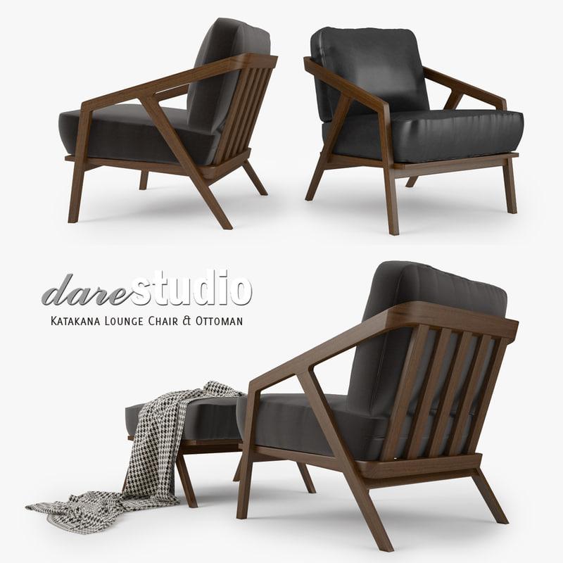 dare studio katakana lounge chair max
