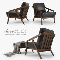 Dare Studio Katakana Lounge Chair and Ottoman