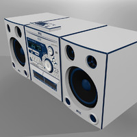 3d stereo radio cd model