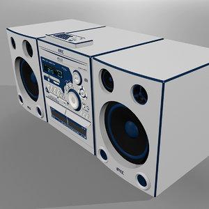 3d stereo radio cd model