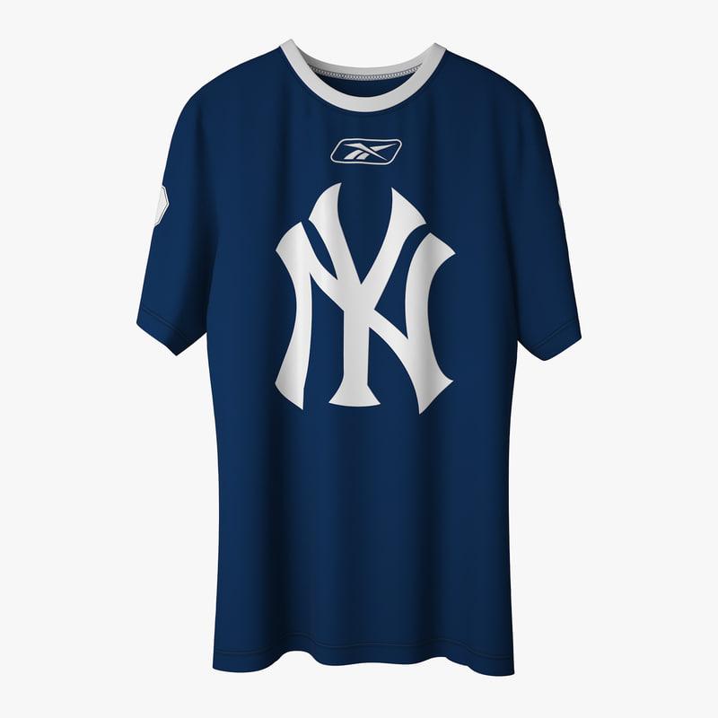 ny t-shirt 3d model