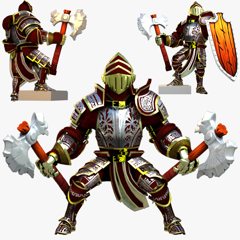 rigged knight series 3d max
