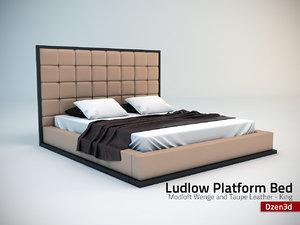 3d model modloft ludlow bed loft