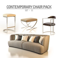 3d model of contemporary pack - set