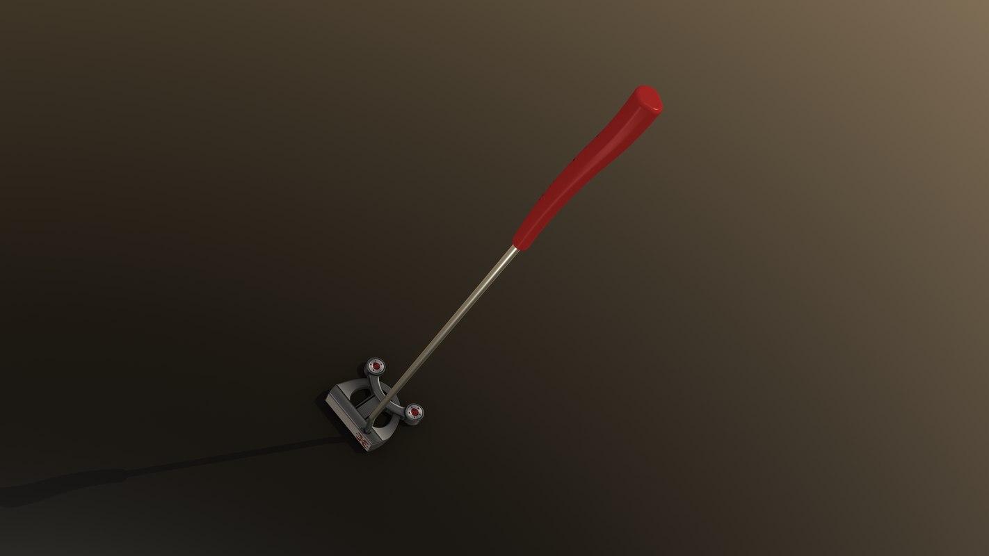 3d golf putter model