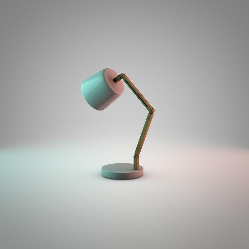 lamp desktop desk 3d model